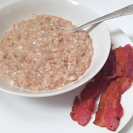 Hot Multigrain Cereal & Bacon