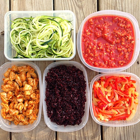 Turkey Zoodles & Enchilada Bowl Meal Prep