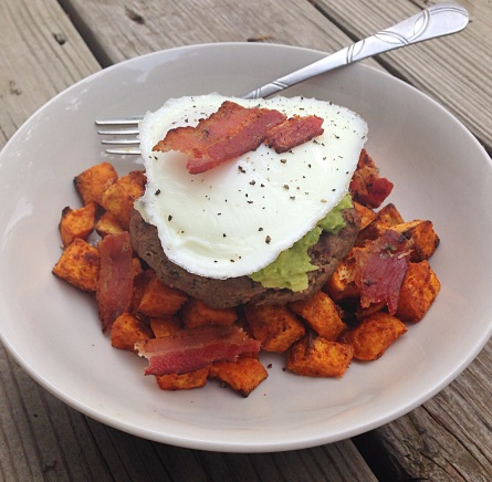 Sweet Potato Burger Bowl