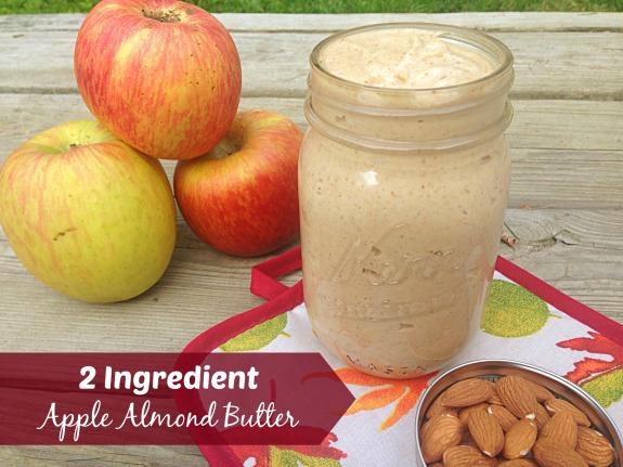2 Ingredient Apple Almond Butter