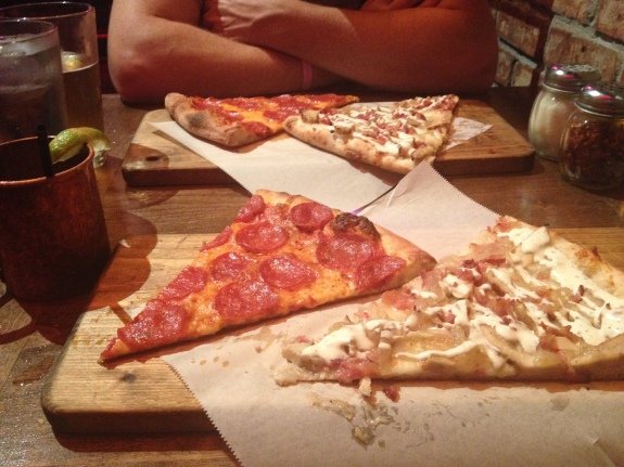 Pizza at the New Yorker SD