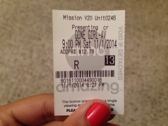 Gone Girl Ticket