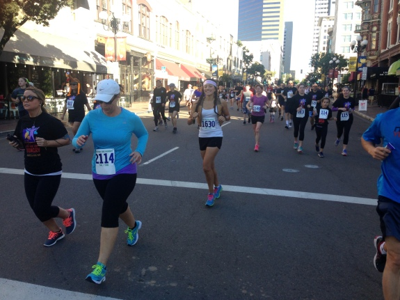 Me running at SD Run for the Hungry