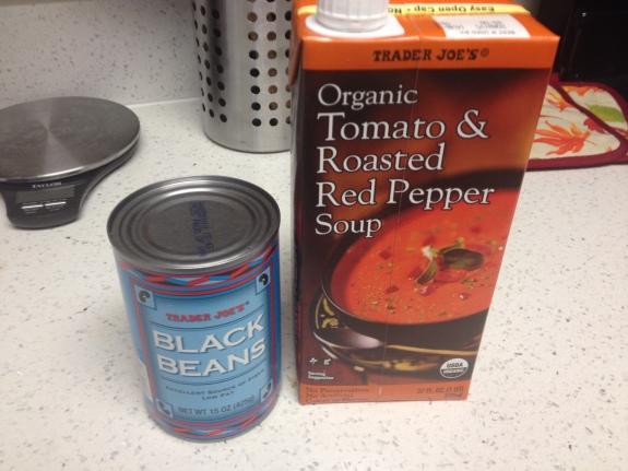 Tomato Soup & Black Beans