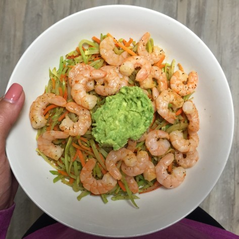 Shrimp, Broccoli Slaw, Avocado