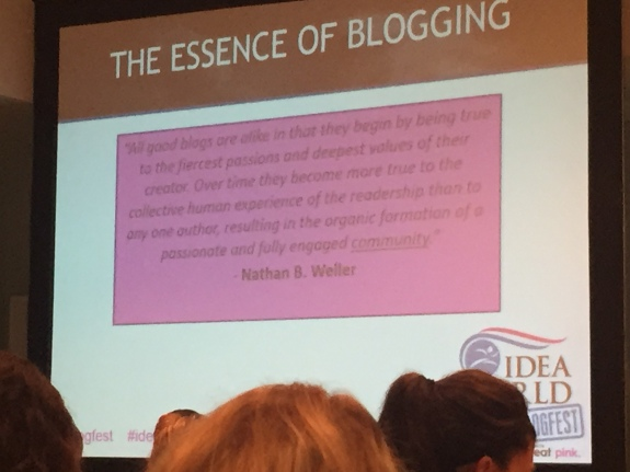Essence of Blogging Quote